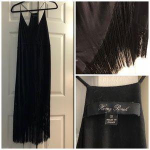 Midi dress w/ fringe